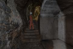 Grotta presso la centrale di Timau - adattamenti bellici